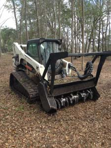 Southern Land Services: Brush Removal, Brush Mulching and Dirt Grading in Thomasville. Call today - (229) 378-4014
